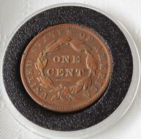 1837 MATRON HEAD LARGE CENT, HEAD OF 38   HISTORIC BEAUTY  OFFER