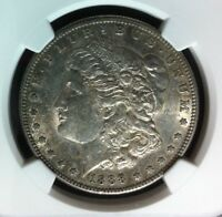 1888 S VAM 6A NGC AU 53 MORGAN SILVER DOLLARGENE L HENRY LEGACY COLLECTION