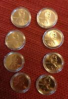1  SET LINCOLN BICENTENNIAL 2009 PENNY P&D FROM MINT ROLLS 8 COINS IN CAPSULES