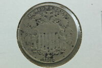 1882 SHIELD NICKEL G POROUS SURFACE
