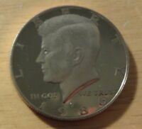 1986 S PROOF KENNEDY HALF DOLLAR   BRILLIANT PROOF