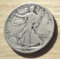 1917 WALKING LIBERTY HALF DOLLAR   GOOD