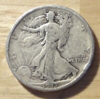 1917 WALKING LIBERTY HALF DOLLAR   GOOD/VERY GOOD