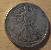 SILVER 1927 S WALKING LIBERTY HALF DOLLAR   GOOD