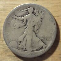1918 D WALKING LIBERTY HALF DOLLAR   ABOUT GOOD