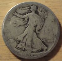 1918 S WALKING LIBERTY HALF DOLLAR   ABOUT GOOD