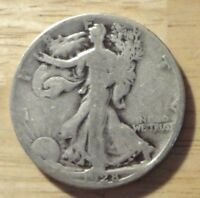 1928 S WALKING LIBERTY HALF DOLLAR  LARGE S    GOOD