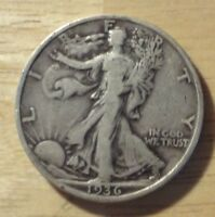 1936 S WALKING LIBERTY HALF DOLLAR   CHOICE FINE