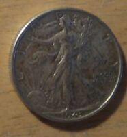 1943 WALKING LIBERTY HALF DOLLAR   CHOICE EXTRA FINE