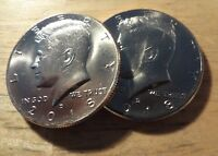 PAIR OF 2018 D KENNEDY HALF DOLLARS  2 COINS    BRILLIANT UNCIRCULATED