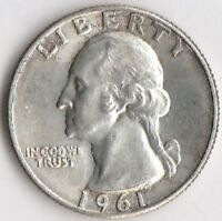 SILVER 1961 D WASHINGTON QUARTER   CHOICE BRILLIANT UNCIRCULATED