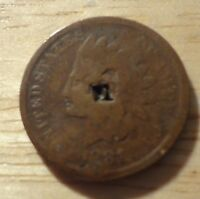 1881 INDIAN HEAD CENT   GOOD  DAMAGED
