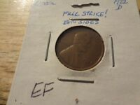 SEMI KEY DATE 1922 D LINCOLN CENT   EXTRA FINE    FULLY STRUCK ON BOTH SIDES