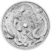 2018 AUSTRALIA 1 OZ PERTH .9999 SILVER DRAGON & TIGER  FROM MINT ROLL