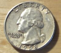 1958 WASHINGTON QUARTER   ABOUT UNCIRCULATED