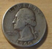 1940 WASHINGTON QUARTER   EXTRA FINE