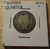 1895 O BARBER QUARTER  GOOD 4