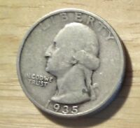 1935 WASHINGTON QUARTER   FINE