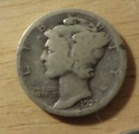 SILVER 1923 MERCURY DIME   ABOUT GOOD/GOOD