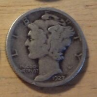 SILVER 1927 MERCURY DIME   GOOD