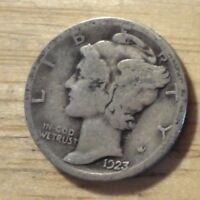SILVER 1923 MERCURY DIME   GOOD