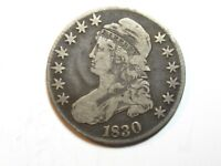1830 CAPPED BUST HALF DOLLAR - LARGE 0 -  FINE - 2147
