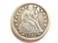 1853 SEATED LIBERTY DIME - WITH ARROWS - 1952