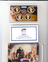 2010 S PRESIDENTIAL DOLLAR PROOF SET 4 COINS W/BOX AND COA SHIPS FREE