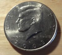 2003 D NIFC KENNEDY HALF DOLLAR   CHOICE ABOUT UNCIRCULATED