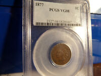 1877 PCGS VG 8 INDIAN HEAD CENT KEY DATE KING OF THE INDIANS