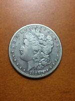 1889 CC MORGAN SILVER DOLLAR..VF GRADE..NO RESERVE AUCTION..