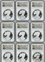LOT OF 10: 2014 W AMERICAN SILVER EAGLES PR70 NGC ULTRA CAME