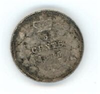 1885 LARGE 5 CANADA 5 CENTS SILVER