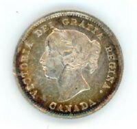 1891 CANADA 5 CENTS SILVER