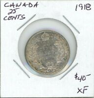 CANADA 1918 25 CENTS   EF