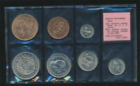 NEW ZEALAND: 1965 PINK LABEL D TO 2/6 UNCIRCULATED SET IN OR