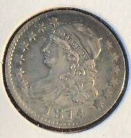 1814 10C CAPPED BUST DIME  COIN BETTER DARE