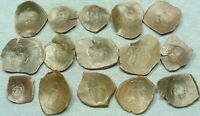 LOT OF 15 BYZANTINE BRONZE CUP COINS
