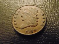 1828 CLASSIC HEAD HALF CENT / XTRA FINE / DOUBLE SHARP / TYPE COIN / STK 7627