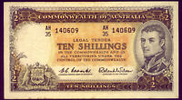 R17  TEN SHILLING NOTE: COOMBS/WILSON  CRISP AND GVF    NO