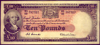 R62F TEN POUND  NOTE 1ST  PREFIX WA/00  COOMBS AND WILSON AU