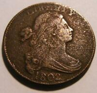 1802 LARGE CENT - PLEASING CIRCULATED COIN