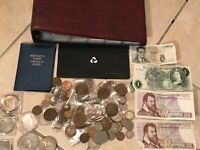 OLD BRITISH COIN COLLECTION COINS CROWNS BANKNOTES SETS BU C