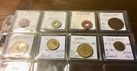 PALESTINE & ISRAEL LOT OF 8 DIFFERENT COINS IDENTIFIED IN FL