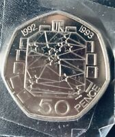 THE ST FIFTY PENCE 50P DUAL DATE 1992/1993 EEC PRESIDENCY CO