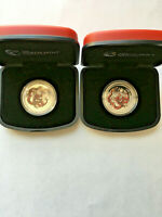 LOT OF 2 2012 AUSTRALIA 1/2 OZ PROOF SILVER YEAR OF THE DRAG