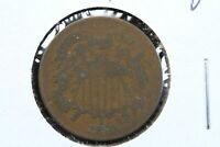 1870 2 CENT GOOD CIRCULATED COIN