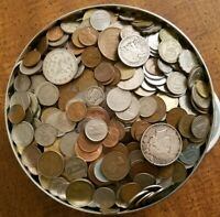 JUNK DRAWER BULK LOT  OLDER USA / WORLD COINS   USA SILVER &