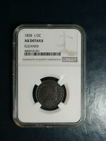 1828 CLASSIC HEAD HALF CENT NGC AU 1/2C PENNY COIN PRICED TO SELL NOW