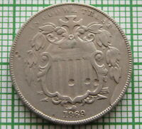 UNITED STATES 1869 5 CENTS - SHIELD NICKEL